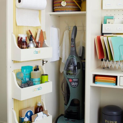 How to get organized 2014 {closet + cabinet door solutions}