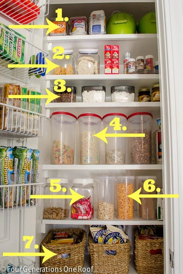 Container Store food storage containers kitchen pantry makeover