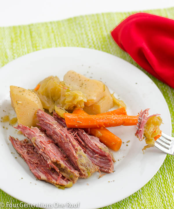 Mom's corned beef and cabbage crock pot recipe