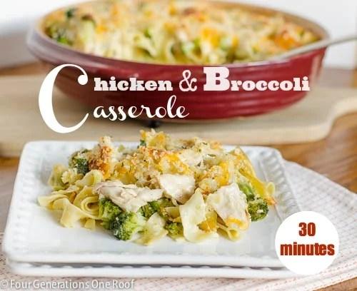 chicken and broccoli casserole 30 minutes