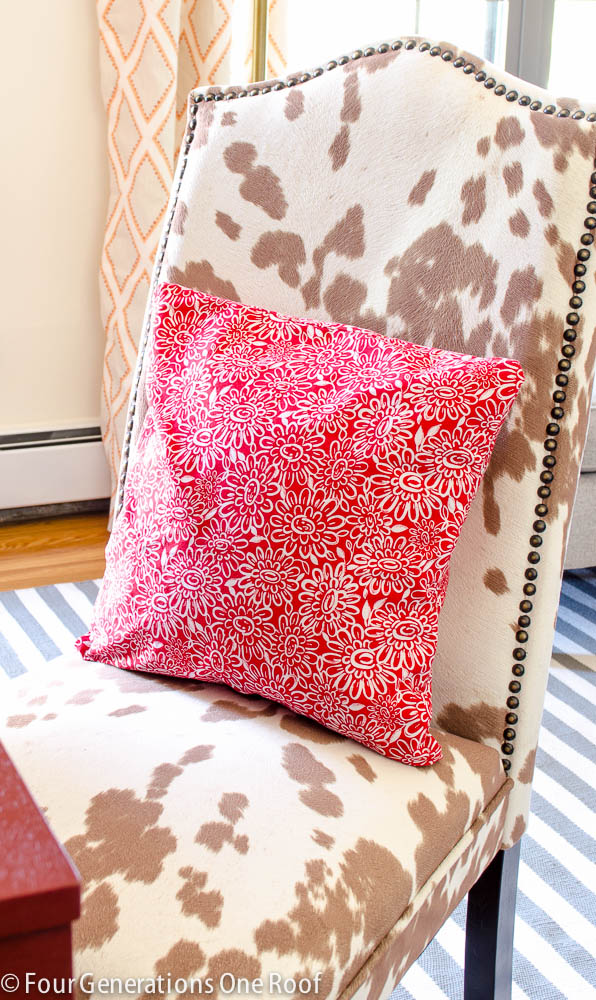 how to sew a pillow {you did what with a skirt-2