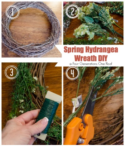 how to make a wreath spring hydrangea