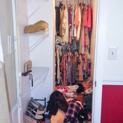 Our master bedroom nightmare closet