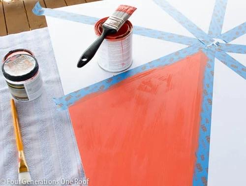 orange ombre wall art-6
