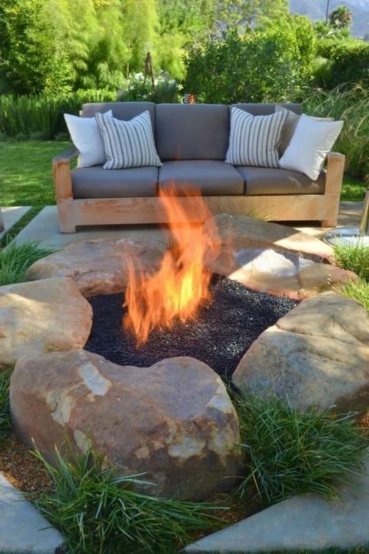 boulder diy fire pit
