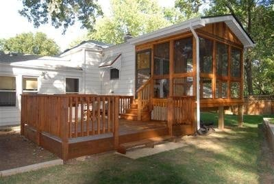 deck ideas camper + sunroom