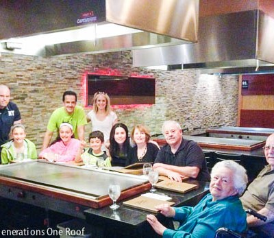 Family Time at Hibachi Restaurant + grandparents update