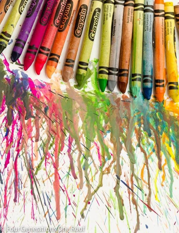 melted crayon art tutorial www.fourgenerationsoneroof.com