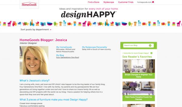 HomeGoods blogger design happy
