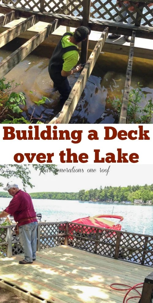 summer deck lake project
