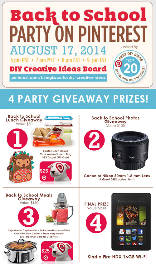Back to School Pinterest Party + Major Giveaway! - Four Generations