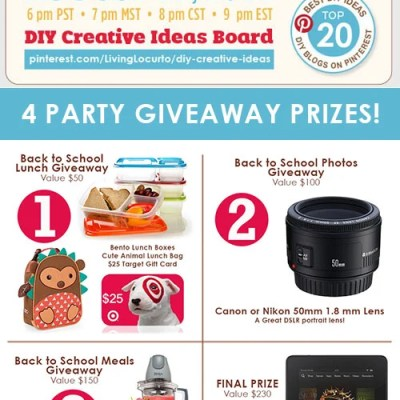 Back to School Pinterest Party + Major Giveaway!