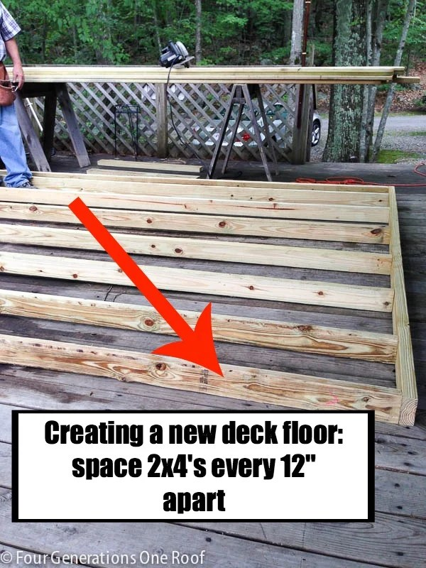 how to build a deck over a deck {our campsite}