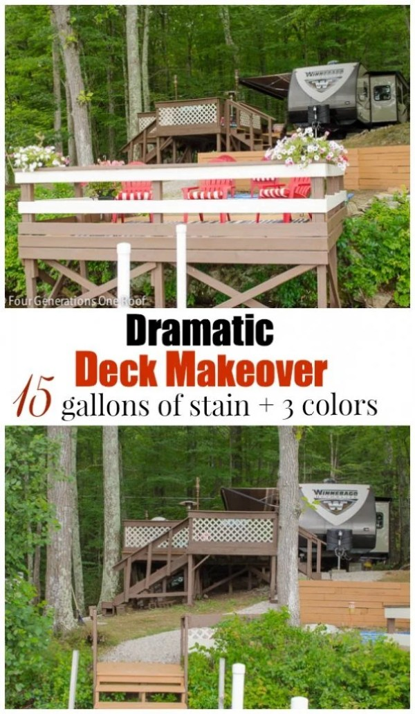 campsite + deck makeover before and after