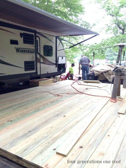 building a deck over a deck {campsite}