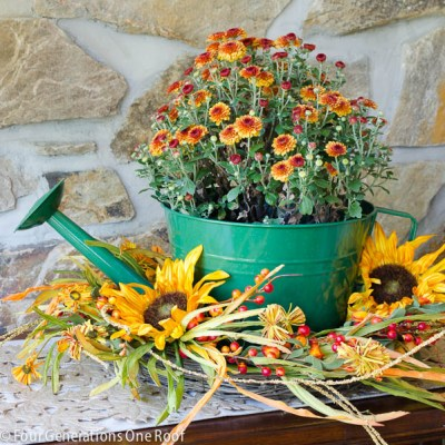 DIY Watering Can Flower Pot