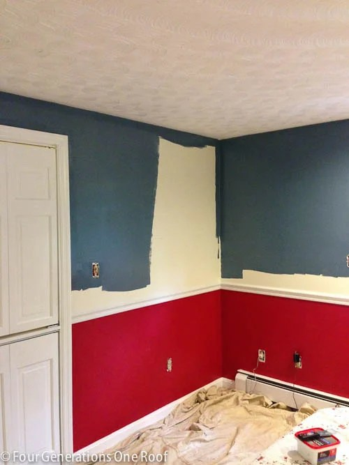 blue master bedroom paint progress-2