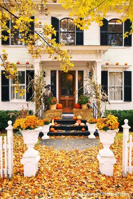 Gorgeous front door fall decorating ideas  Four