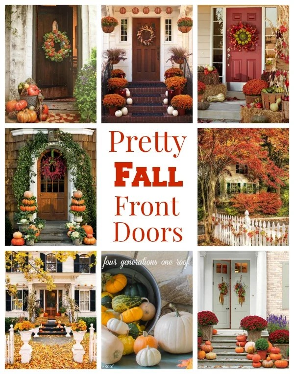 Gorgeous front door fall decorating ideas