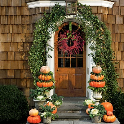 gorgeous front entry door fall decorating ideas