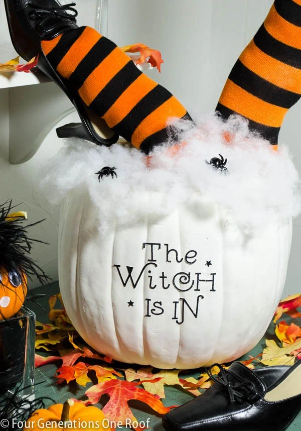cute diy halloween pumpkin 30 minutes or less + tutorial