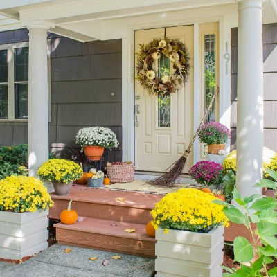 Our Portico Reveal {curb appeal}