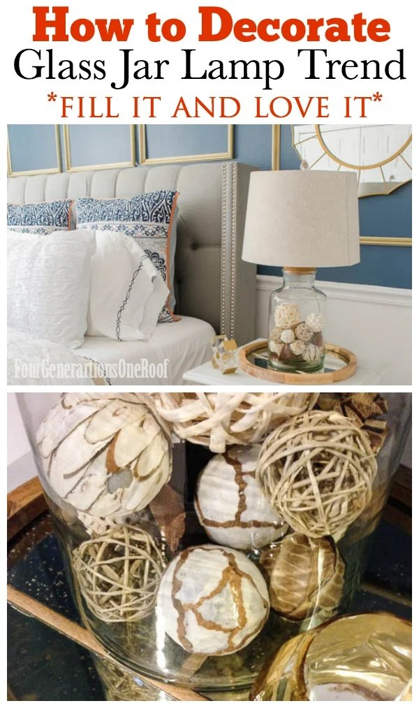 How to decorate with a glass jar lamp