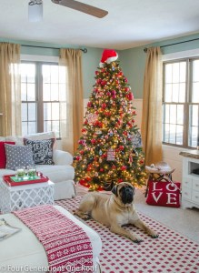 Christmas decorating ideas - red + black living room-6