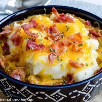 Impossible Bacon Cheeseburger Shepherd's Pie