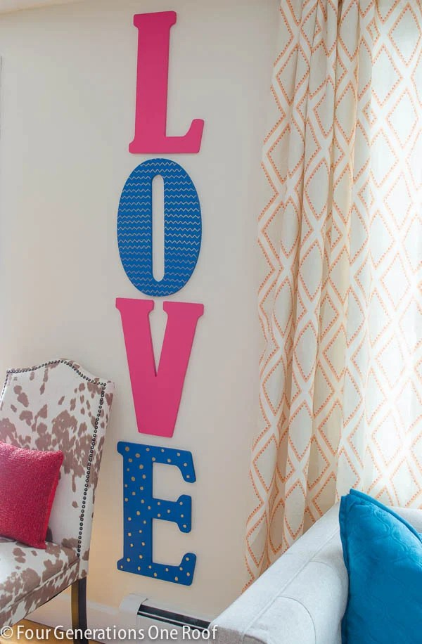 Decorating for Valentine's Day - love-wall-letters