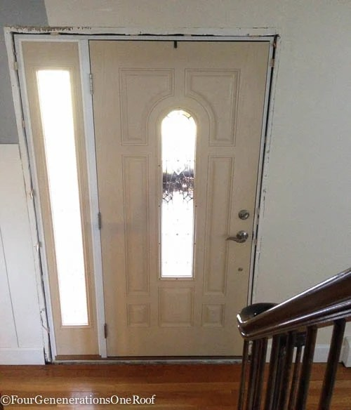 How To- Front door interior trim -3