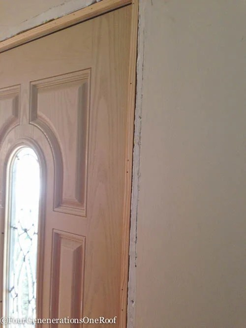How To- Front door interior trim -5