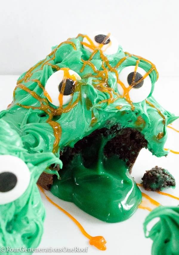 Monster Slime Cupcakes