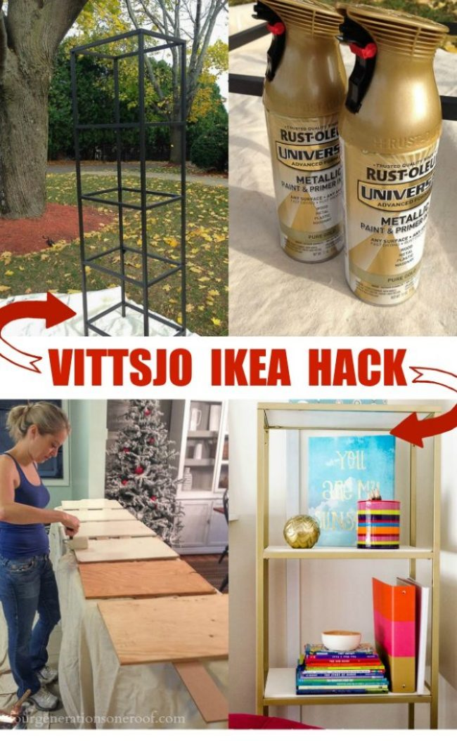 Vittsjo IKEA Hack {spray paint + wooden shelves}