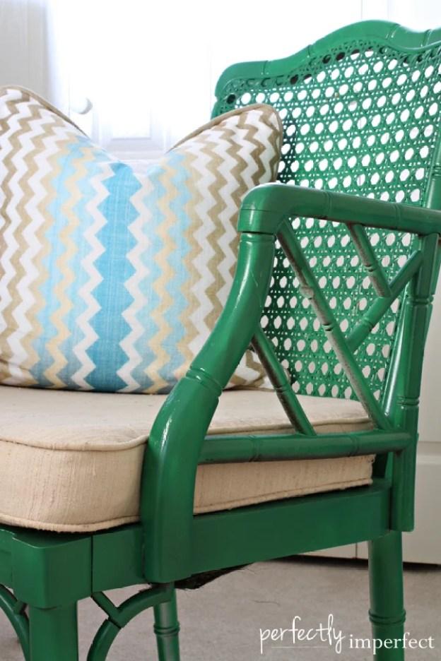 green-bamboo-chair