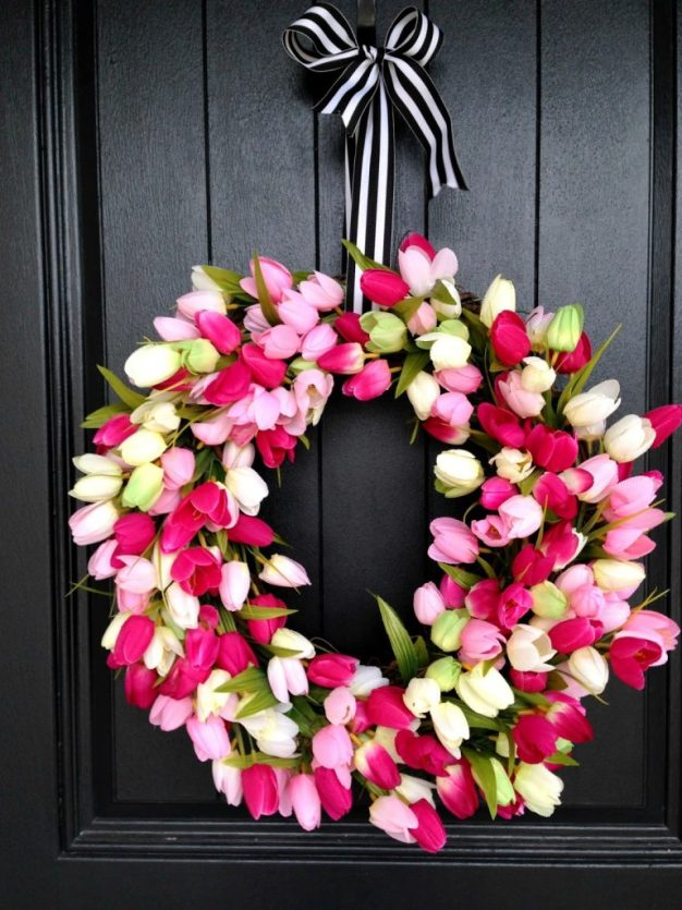 spring-tulip-wreath-pink