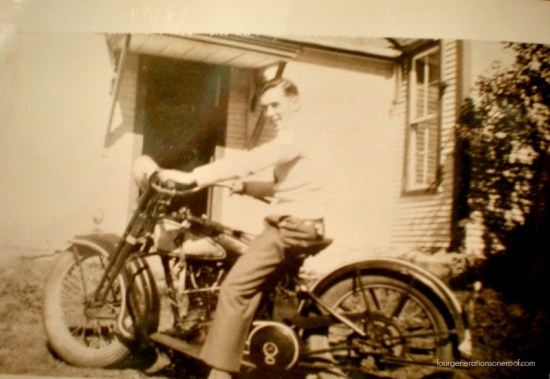 gramp old picture riding old bike
