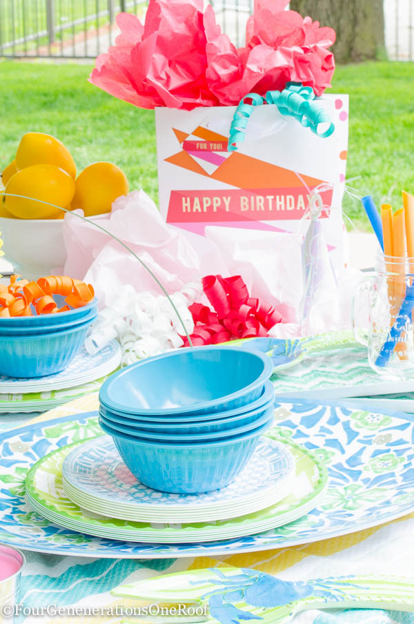 How To: Summer outdoor entertaining {birthday party}