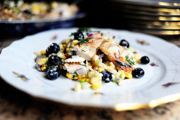 chicken-corn-blueberry-salad