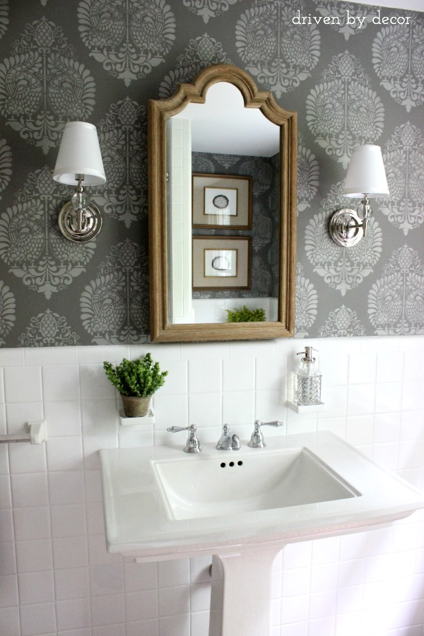 tile-stenciled-gray-powder-room