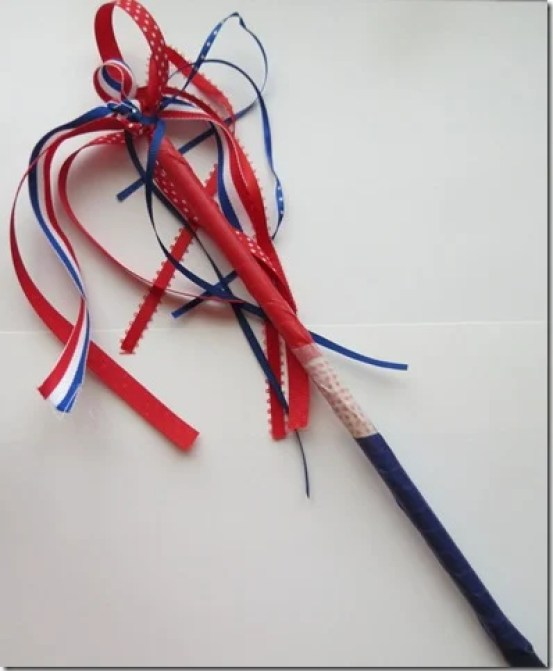 Patriotic-Parade-Wand fourth of july party ideas