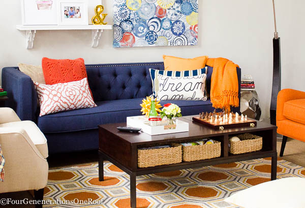 How to create a decorative coffee table tray {10 minute decorating ideas}