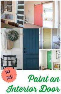 TRY THIS: 8 Colors You Can Paint an Interior Door - Four ...