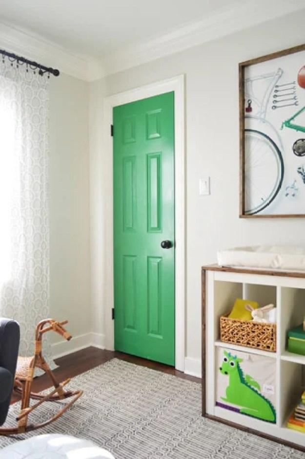 green-nursery-door