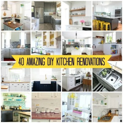 40 Amazing DIY Kitchen Renovations
