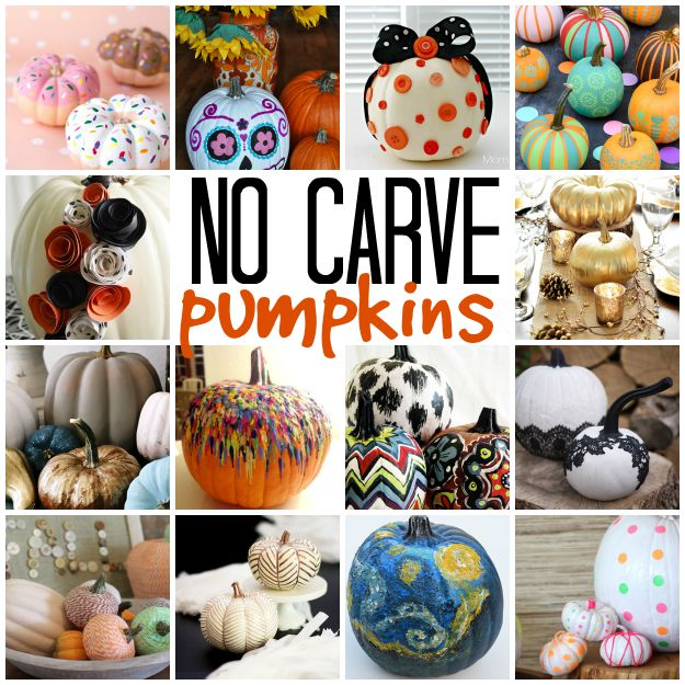 25 no carve pumpkin ideas