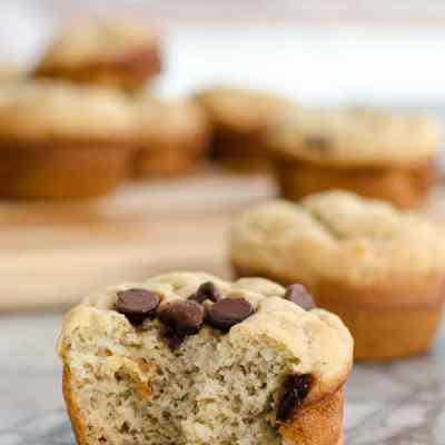 Healthy Gluten Free Banana Muffins {no sugar added}