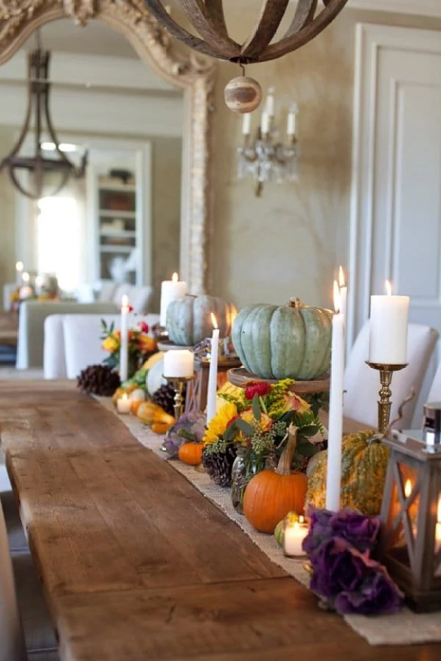 gourds-florals-table-runner
