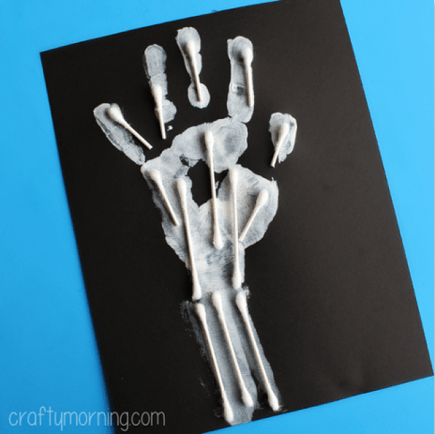 handprint-skeleton-q-tip-craft-for-kids-