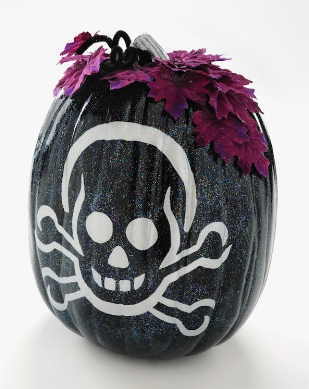 sparkly-black-skeleton-pumpkin